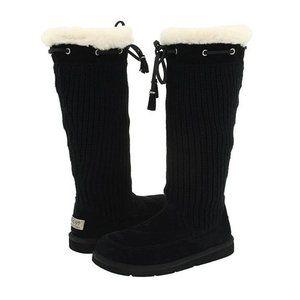 UGG Australia Suburb Crochet Black Tall Boots